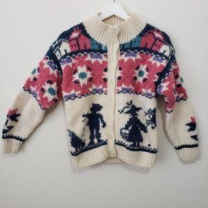 Vintage Woolrich Sweater Wool Chicken Cardigan S M